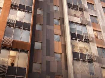 Внешнее оформление фасадов жилых корпусов